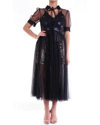 Amy Lynn Vestido largo en - Negro