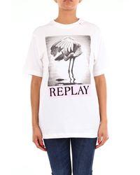 Replay T-shirt à manches courtes - Blanc
