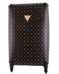 Guess Wilder twp74529480 trolley grande con stampa 4g e logo peony all over - Marrón