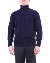 Brunello Cucinelli Jersey de cuello alto brunello cuccinelli - Azul