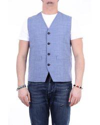 Paolo Pecora Gilet in maglia - Blu