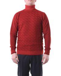 Jeordie's Jersey de cuello alto color teja jeordie - Rojo