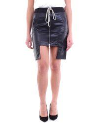 Rick Owens DRKSHDW Minifalda en cuero ecológico - Negro