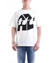 JW Anderson T-shirt con maniche corte di colore panna e nero - Multicolore