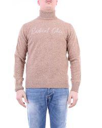 Fefe Jersey de cuello alto color camel - Rosa