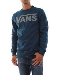 Vans Felpa girogola iconica con logo serigrafico, 60% cotone 40% polyester - Blu