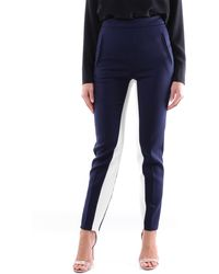 Stella McCartney Pantalon classique bleu marine
