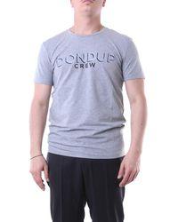 Dondup T-shirt con maniche corte di colore - Grigio