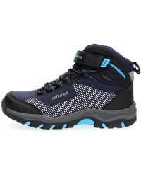 Lumberjack Sneaker sportiva e colorata con velcro lacci per una calzata comoda. perfetta la scuola il tempo libero, realizzata in softshell - Blu