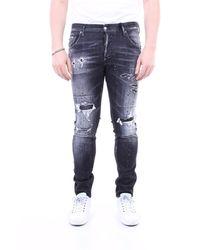 DSquared² Pantalones vaqueros delgado - Negro