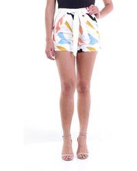 Glamorous Short mini bianco fantasia con cintura in vita