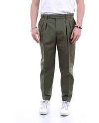 PT Torino Pantalone carrot fit verde militare - Multicolore