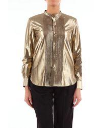 Saint Laurent Camisa clásica color dorado de - Metálico