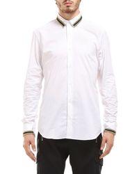 Les Hommes Camicia con dettagli - Bianco