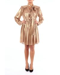 Isabelle Blanche Abito corto color oro - Metallizzato