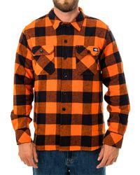 Dickies Camicia sacramento relxed long sleeve shirt dk0a4x8nbgo - Arancione