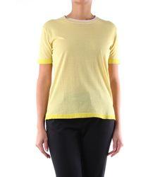 Aspesi Camiseta de manga corta bicolor - Amarillo