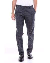 PT Torino Pantalon à micro motif - Bleu