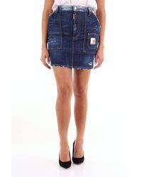DSquared² Mini falda vaquera azul