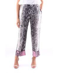 N°21 Pantalone classico pitonato - Multicolore