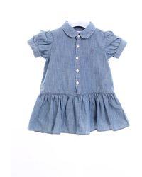 Ralph Lauren Vestido corto de mezclilla - Azul