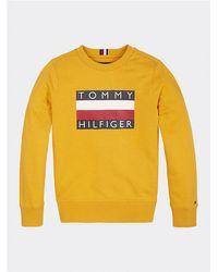 Tommy Hilfiger Felpa unisex ragazzi giallo