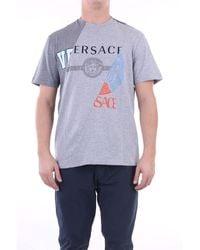 Versace Camiseta manga corta - Gris