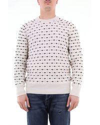 Paolo Pecora Pull en laine tricoté - Blanc