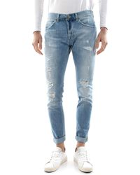 Dondup Modello 5 tasche, skinny fit, vita bassa, con bottoni, denim di cotone stretch - Bleu