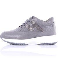 Hogan Sneakers interactive di colore grigio