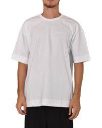 Juun.J T-shirt girocollo con logo - Blanc