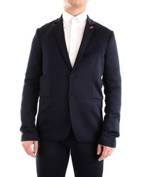 Patrizia Pepe 5s0695/a9e9 giacca tessuto stretch con revers classico - Blu