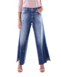 Department 5 Departamento 5 jeans azul con fondo ancho