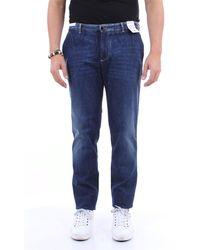PT Torino Jeans droit - Bleu