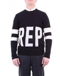 Replay Suéter con cuello redondo - Negro