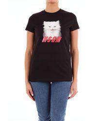MSGM T-shirt à manches courtes noir