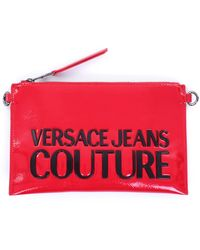 Versace Jeans Couture Bolso de mano con cremallera - Rojo