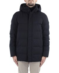 Woolrich Sierra long jacket dh black 100 - Blu