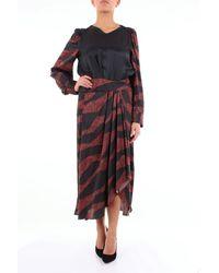 Isabel Marant Robe longue à motifs noirs