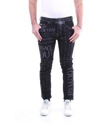 Versace Jeans Couture Vaqueros negros de fantasía - Azul