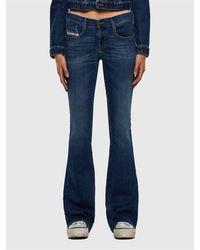 DIESEL Jeans con vestibilità bootcut, vita bassa, in denim stretch, zip-fly - Blu