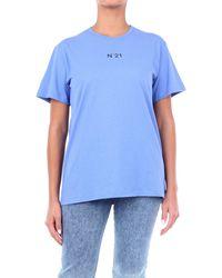 N°21 T-shirt n ° 21 à manches courtes couleur avion - Bleu