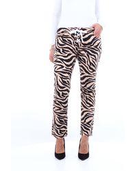 Laneus Pantalone cinque tasche zebrato - Multicolore