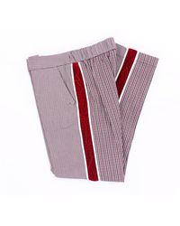Pinko Pantalon à motifs multicolores up - Rouge