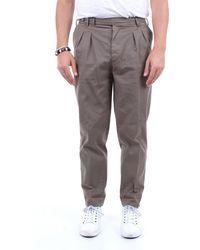 PT Torino Pantalon en coton uni - Vert
