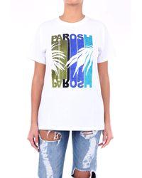 P.A.R.O.S.H. P. a. r. o. s. h. t-shirt manica corta di colore bianco
