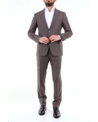 Tagliatore Complet costumes à boutonnage simple - Marron