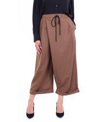 Marni Pantalon court à jambe large - Marron