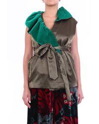 Dries Van Noten K chaqueta sin mangas verde militar