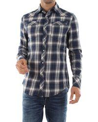 G-Star RAW Camicia dal taglio western realizzata in check, 1005 cotone - Bleu